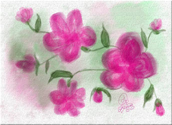 pink flowers by SeventhFairy