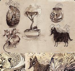 Pretty weird creatures by hamusson