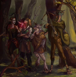 a reckless group of adventurers by hamusson