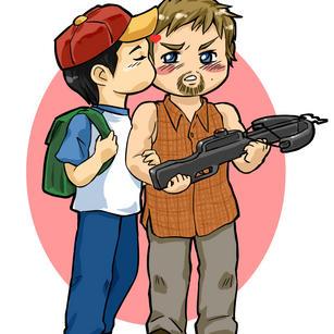 Chibi Glenn and Daryl by nangke