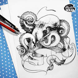 Octopus lineart by mariadekan