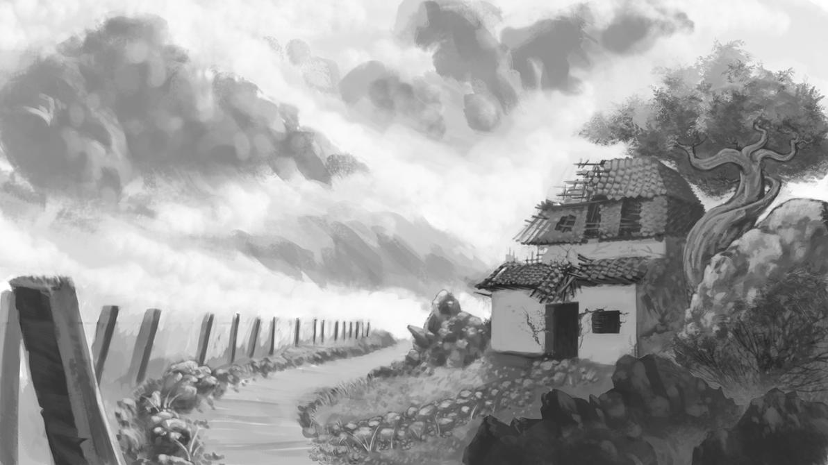 Sketch - Landscape By Tabibito-z On DeviantArt