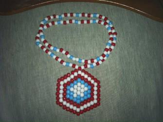 Captain America Kandi necklace