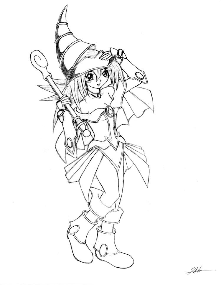 dark magician girl coloring pages - photo#12