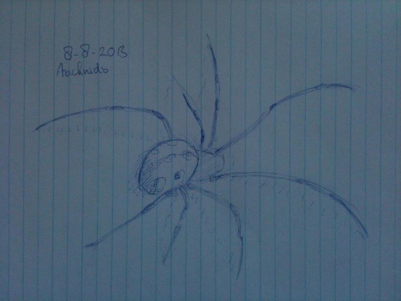 20130808 Arachnids by SketchDailyChallenge