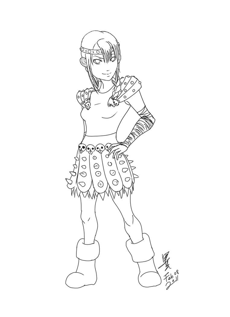 how to train your dragon coloring pages astrid