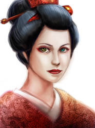 Geisha by Onosaka-Yuha