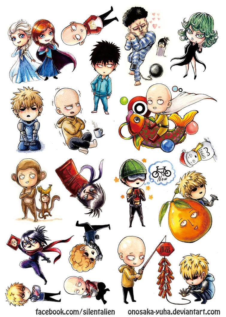 OPM Chinese New Year stickers by Onosaka-Yuha