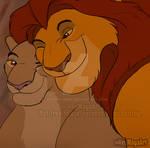 Royal Love - Mufasa x Sarabi by HeyMayaArt
