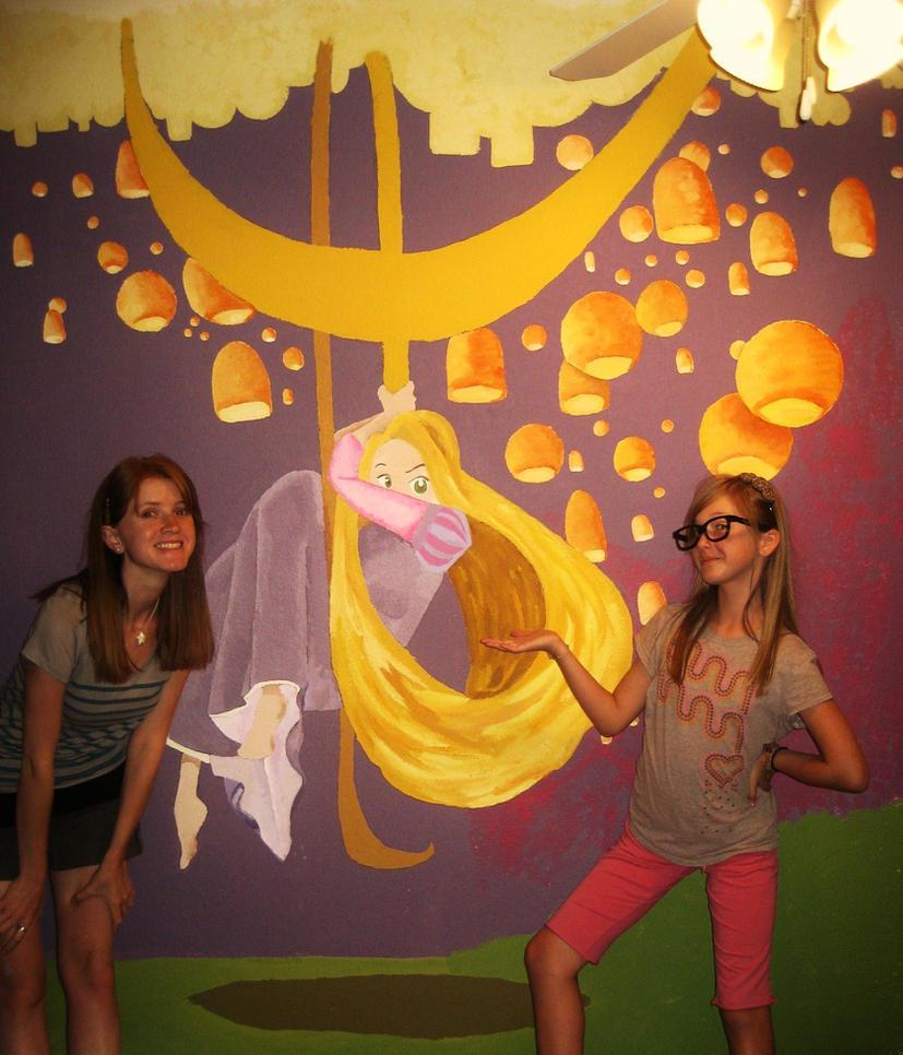 Rapunzel mural by phantomstep on deviantart - Habitaciones de princesas ...