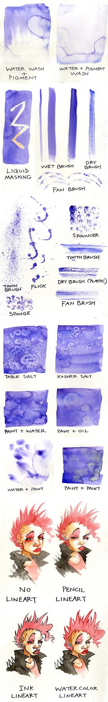 Watercolor Techniques by JoJo-Seames
