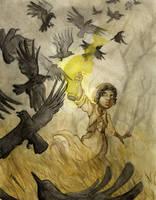 Field of Crows by jojoseames