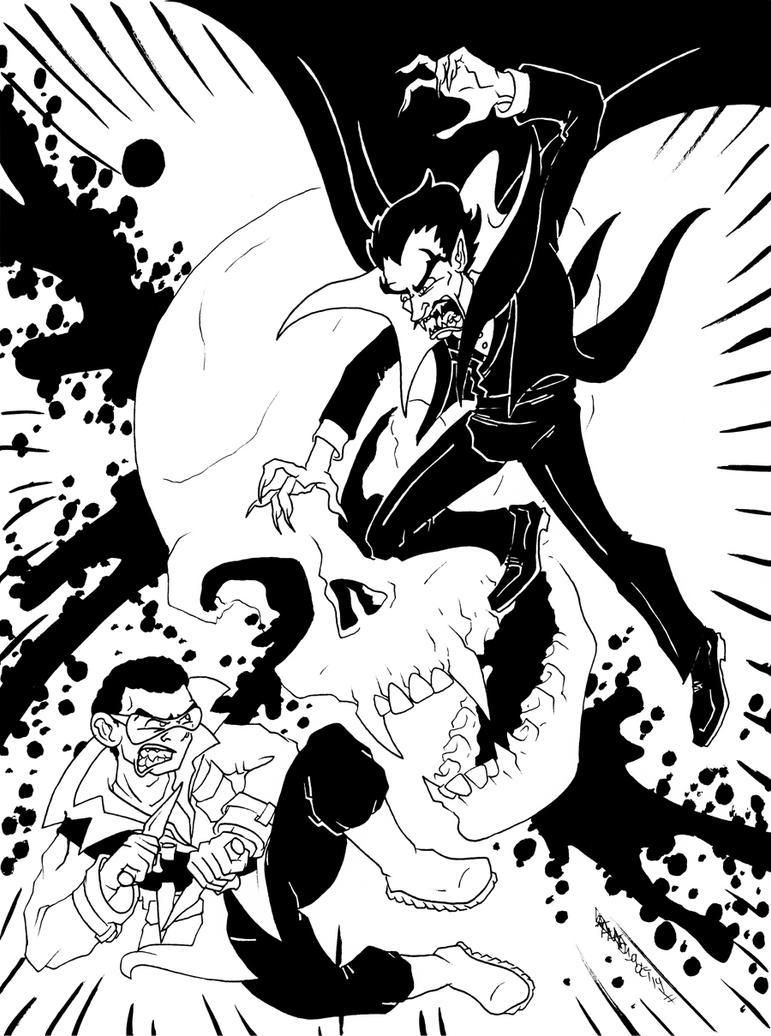 Blade vs Dracula by JoJo-Seames