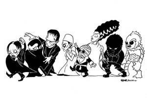 Universal Monsters by jojoseames