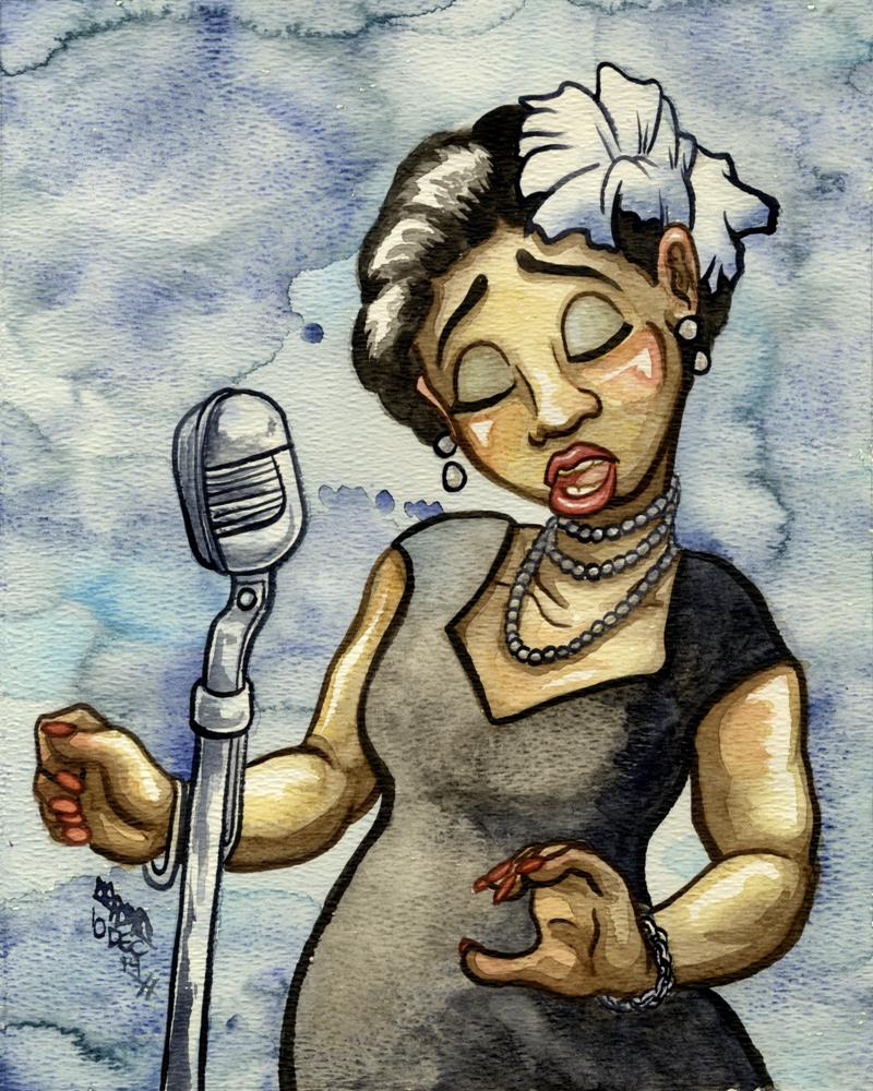 Billie Holiday by JoJo-Seames