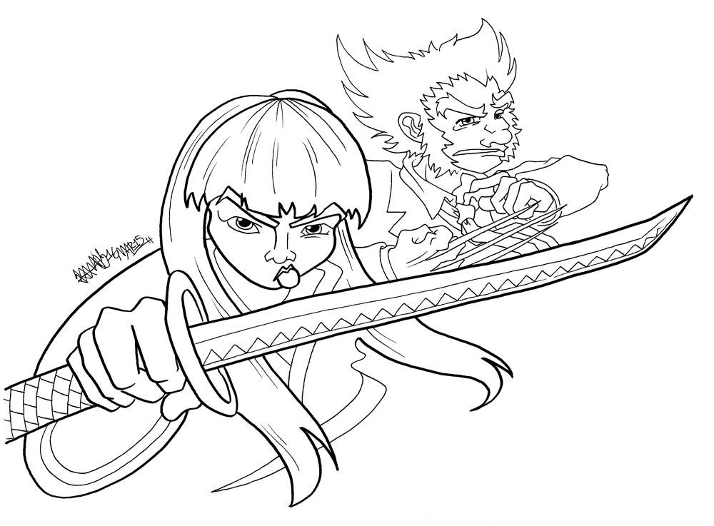 Yukio and Wolverine by JoJo-Seames