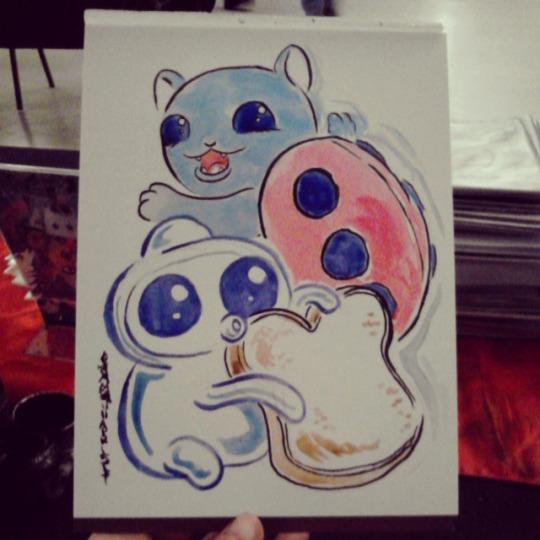 Catbug and Jelly Kid by JoJo-Seames