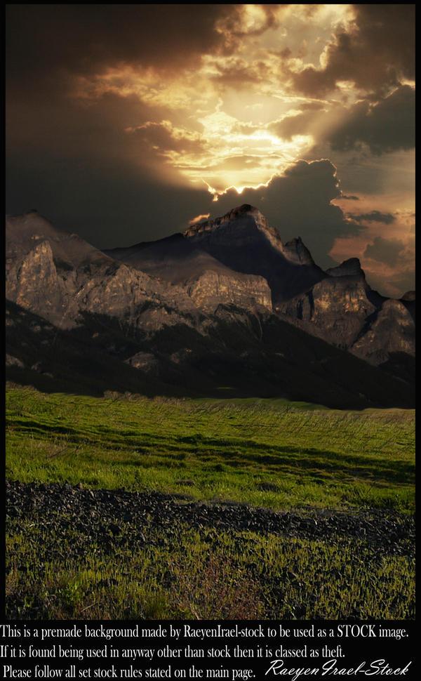 Mountain Range Background by RaeyenIrael-Stock