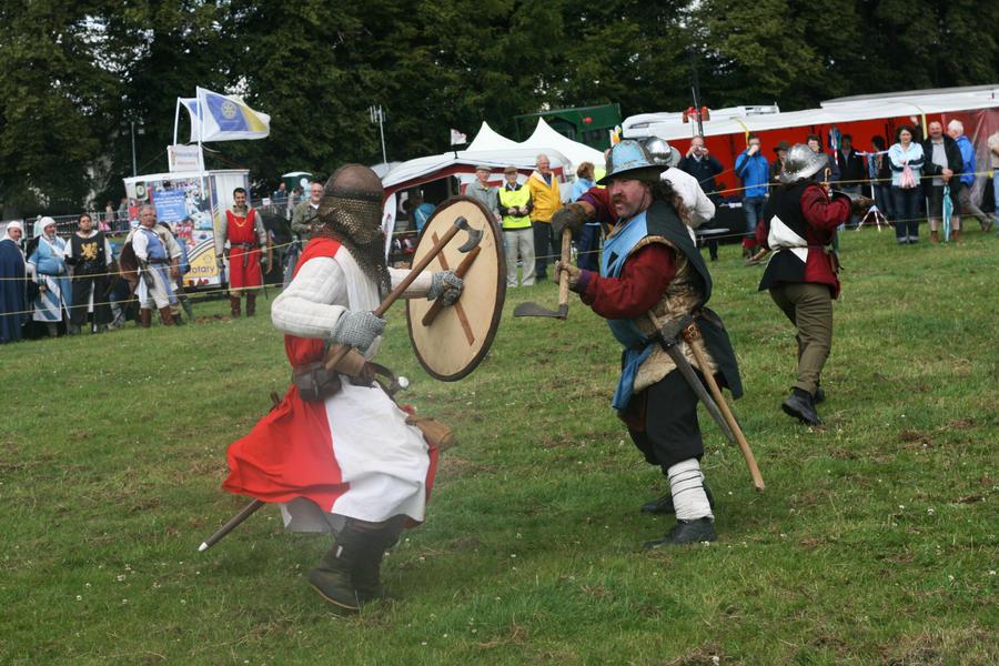 Battling Knights by RaeyenIrael-Stock