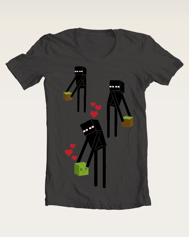 Minecraft Enderman T-shirt by Maarika