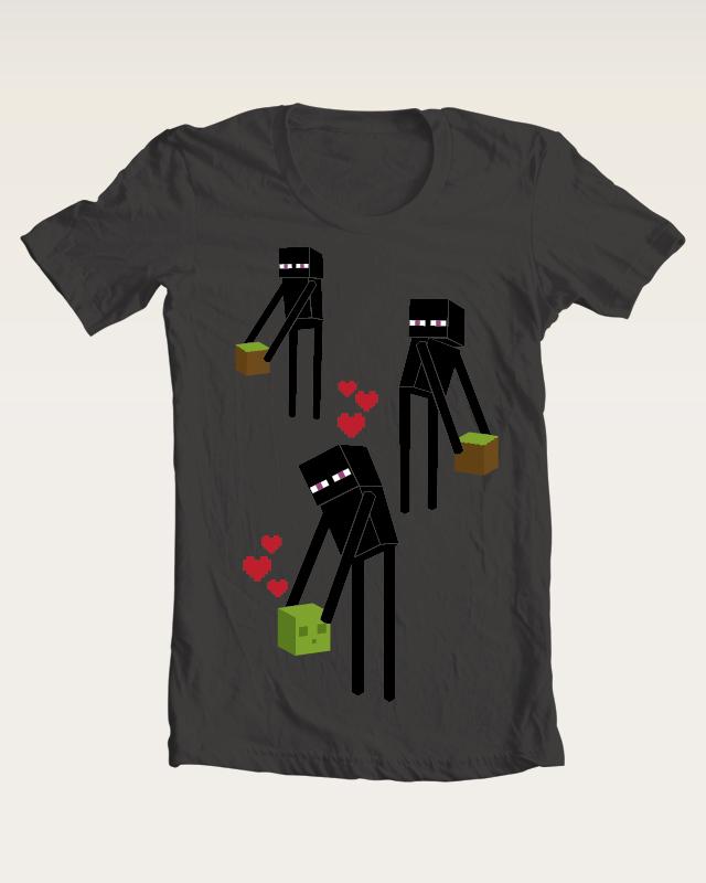 Minecraft Enderman T-shirt by Maarika