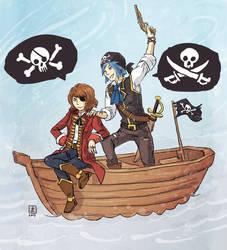 Life is Strange - Max and Chloe pirates