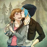 Life Is Strange - Max and Chloe nose kiss by Maarika