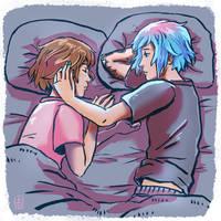 Life Is Strange - Max and Chloe sleepy times by Maarika
