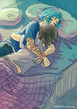 Life is Strange - Max and Chloe - cuddles