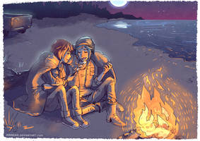 Life is Strange - Max and Chloe - bonfire by Maarika
