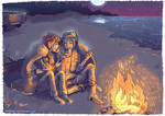 Life is Strange - Max and Chloe - bonfire