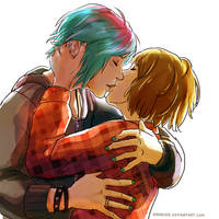 Life is Strange - Max and Chloe - kiss by Maarika