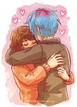 Life is Strange - Max and Chloe - hug