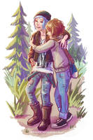 Life is Strange - Max and Chloe - hug 2 by Maarika