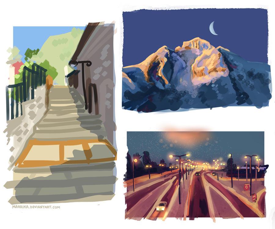 Landscape sketches 15m - 1 by Maarika
