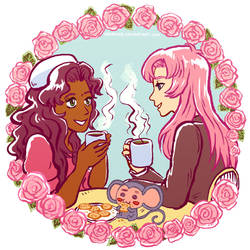Utena and Anthy tea time