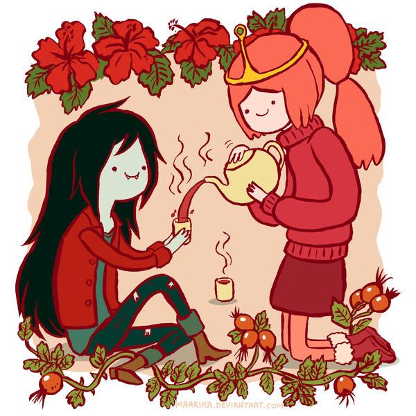 Adventure Time - Marceline and Princess Bubblegum by Maarika