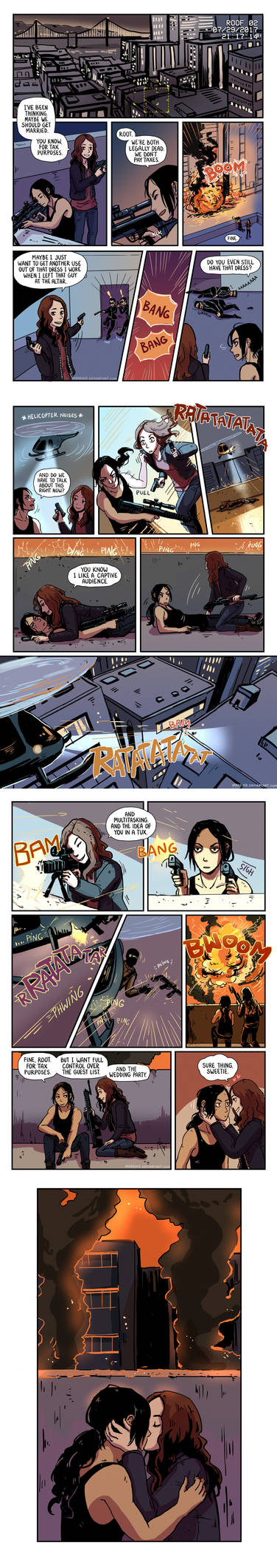Person of Interest - Root and Shaw comic 4