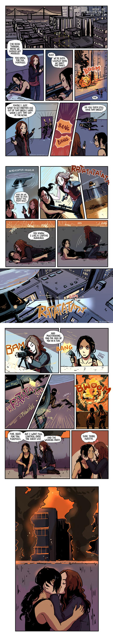 Person of Interest - Root and Shaw comic 4 by Maarika