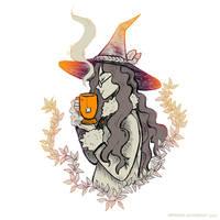 Inktober 2017 witch by Maarika
