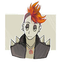 Inktober 2017 Punk Witch by Maarika