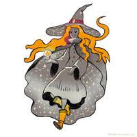 Inktober 2017 Star Witch by Maarika