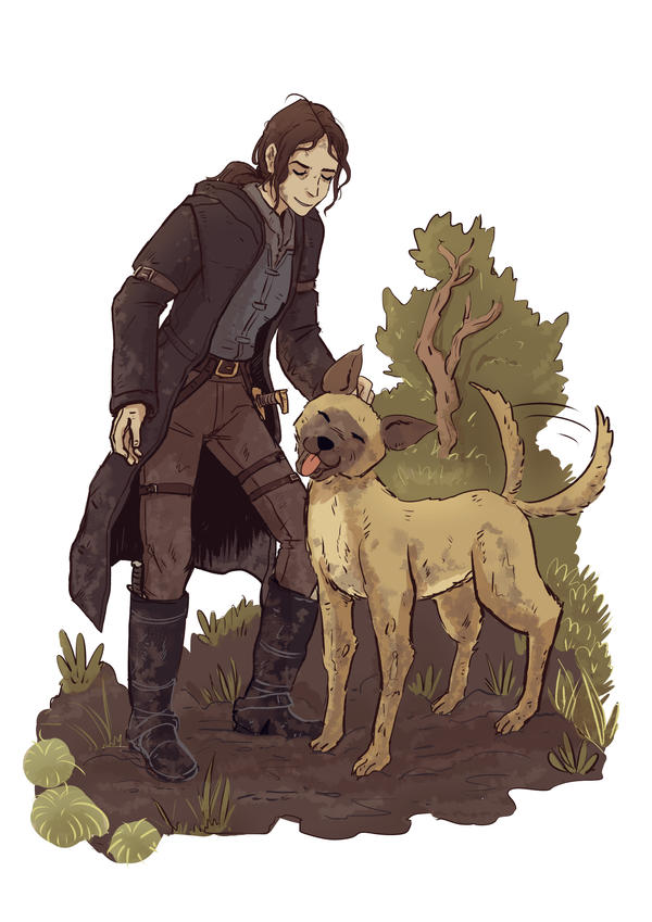 Person of Interest - Shaw and Bear in mud by Maarika