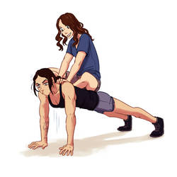 Person of Interest - Root and Shaw - pushups by Maarika