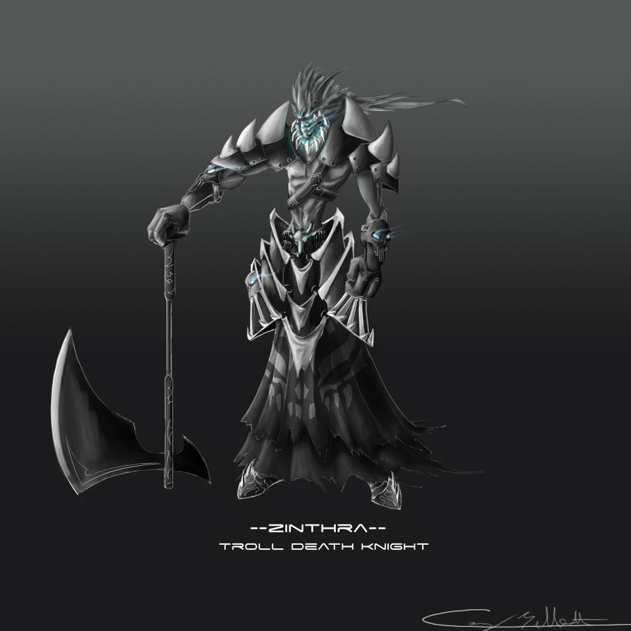 Troll Death Knight Concept by CDB-ART