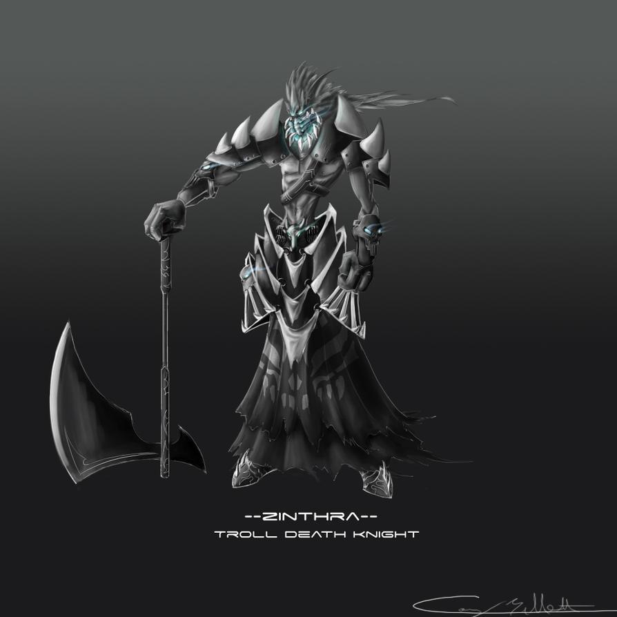 Troll Death Knight Concept by CDB-ART