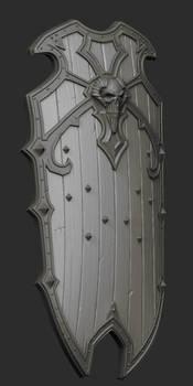 Skull Shield HiPoly
