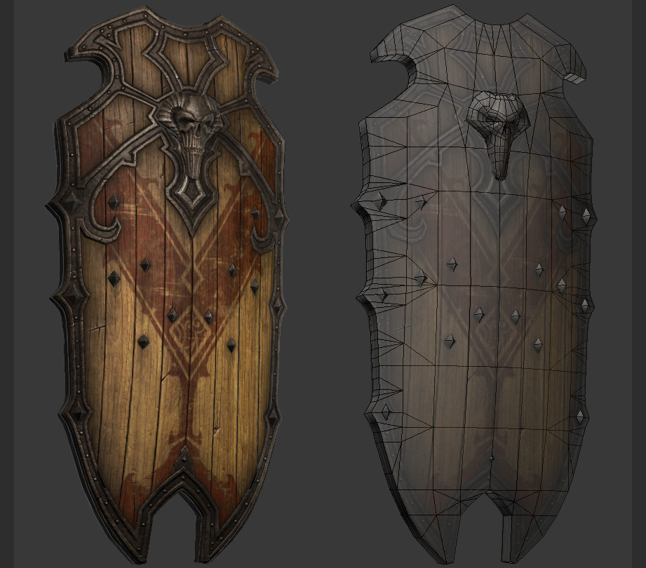 Skull Shield Final by CDB-ART