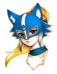 Blue Fox Portrait