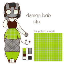 demon bab adopt (closed) by CherrieBab